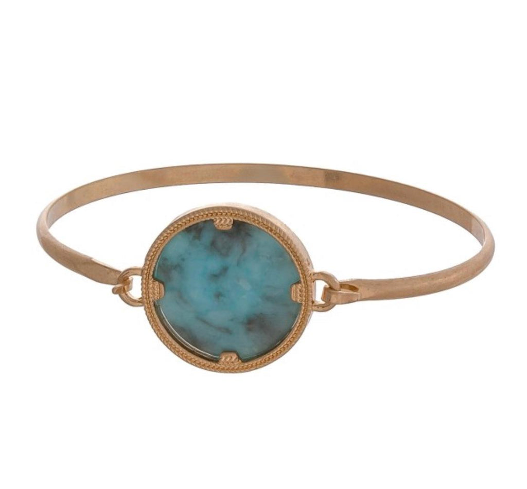 Jade Amazonite Bangle Bracelet
