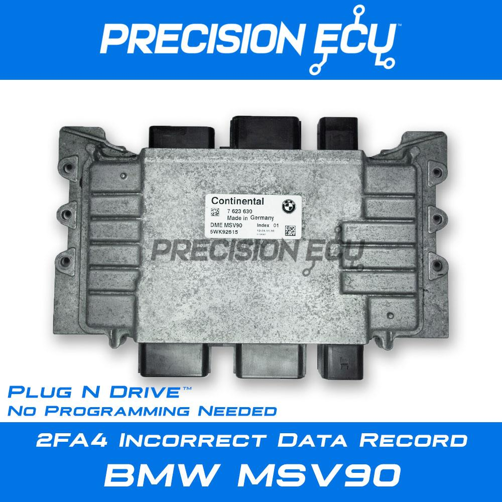 2fa4 incorrect data record bmw dme msv90 repair