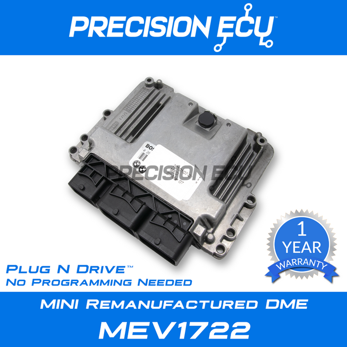 mini dme repair r61 n16 mev1722 ecu mev1722d