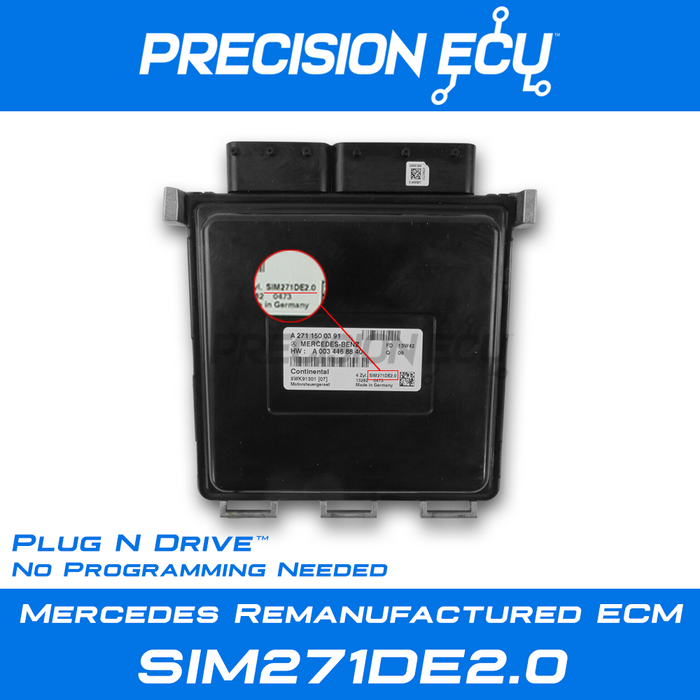 mercedes ecm ecu computer turbo c250 204 a2711500391