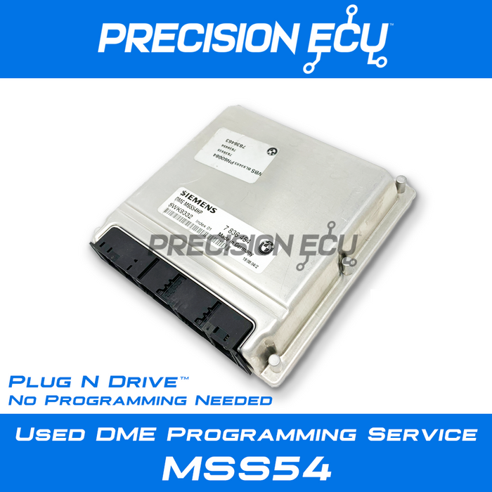 2001-2006 BMW M3 (E46) / MSS54 and MSS54HP / S54 / Used DME Programming  Service / Plug n' Drive