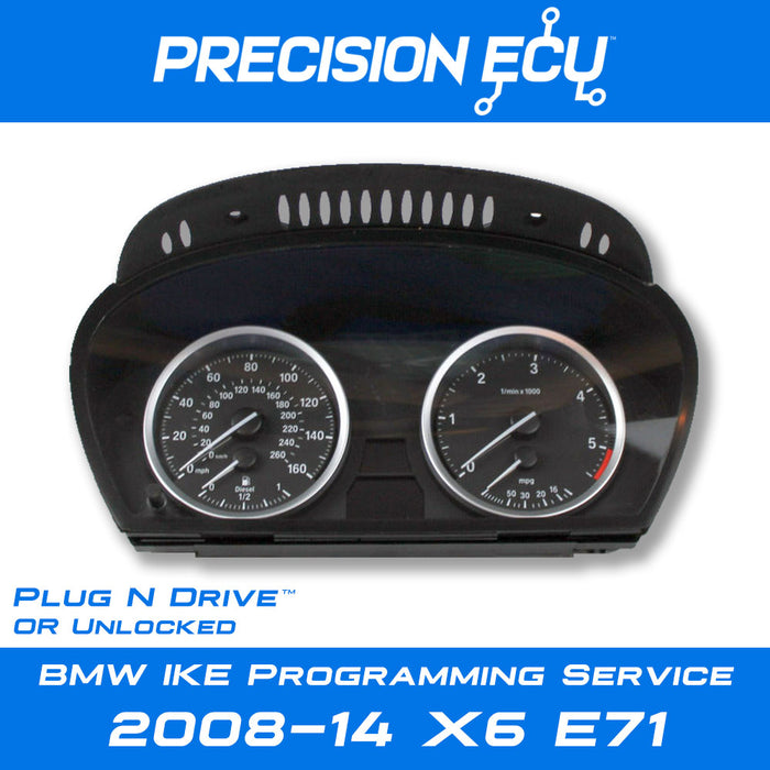 bmw x6 e71 instrument cluster mileage tampering programming