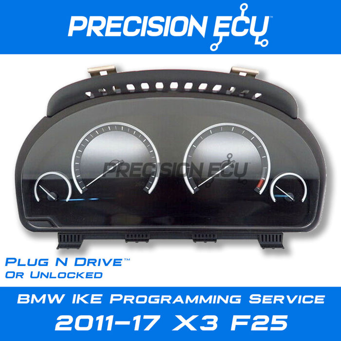 f25 x3 vin instrument cluster mileage repair adjust