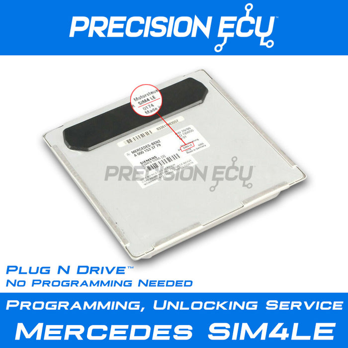 mercedes ecm ecu sim4le repair programming slk230 c230