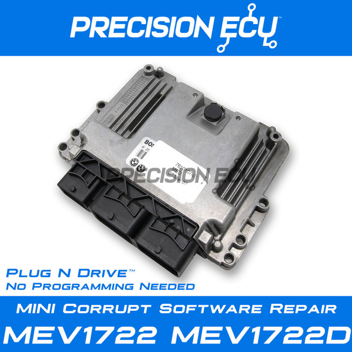 mini dme repair mev1722 mev1722d n16 ecm ecu