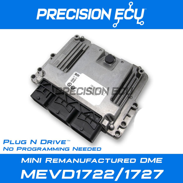 mini dme repair mevd1722 mevd1727 n18 ecm r55