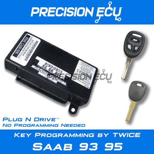 saab key 95 93 twice lost program module