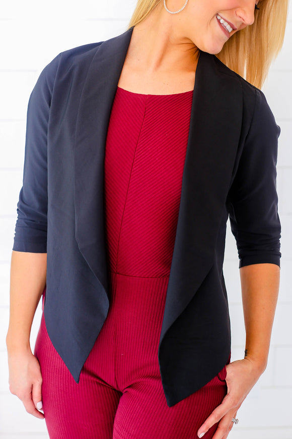 Anything Goes Blazer - Black