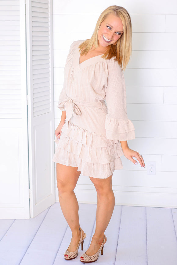 Walk With Me Ruffled Dress