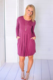 My Everything Dress - Dark Magenta