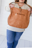 Tassel Hobo Bag - Tan
