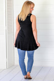 Feel Free Basic Tunic Tank - Black