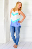 Nothing But Blue Skies Sleeveless Top
