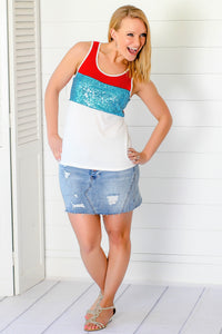 Red, White & Blue Tank