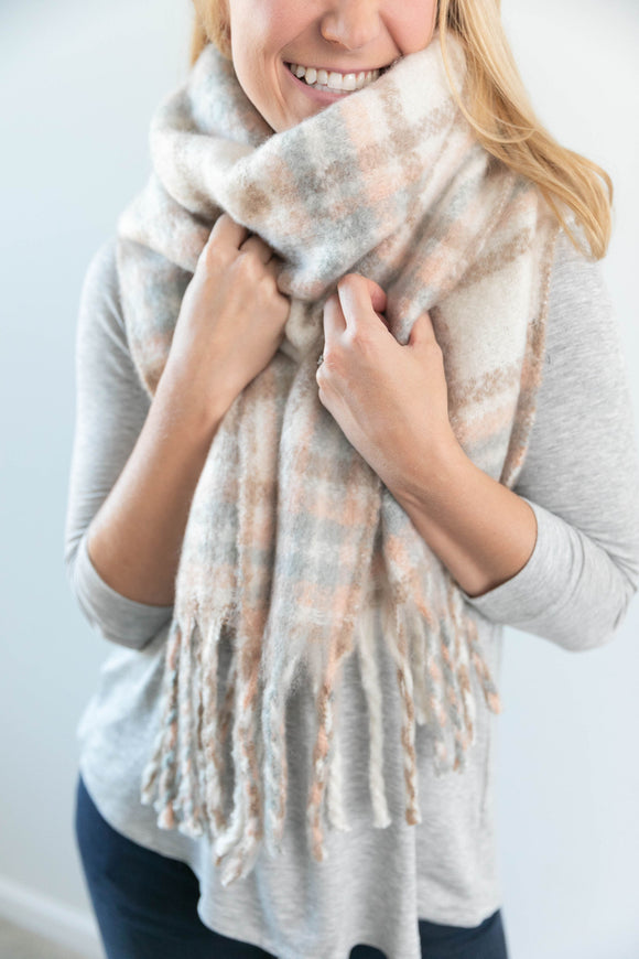 Light Plaid Scarf