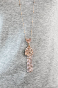 Kristy Rose Gold Dangle Necklace