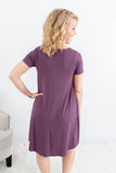 Oh Sassy Day Dress - Eggplant