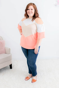 Summer Waves Cold Shoulder Top