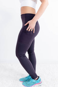 Rise Up Dark Plum Legging