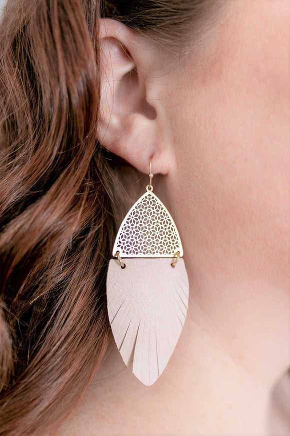 Caroline Faux Leather Earrings