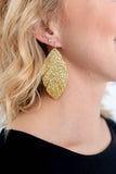 Caeley Gold Feather Earring