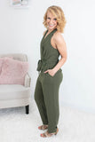 Perfection Olive Jumpsuit