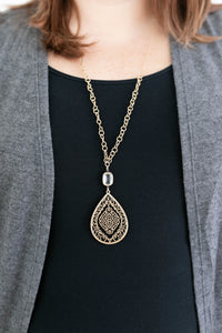 Melissa Crystal Drop Necklace