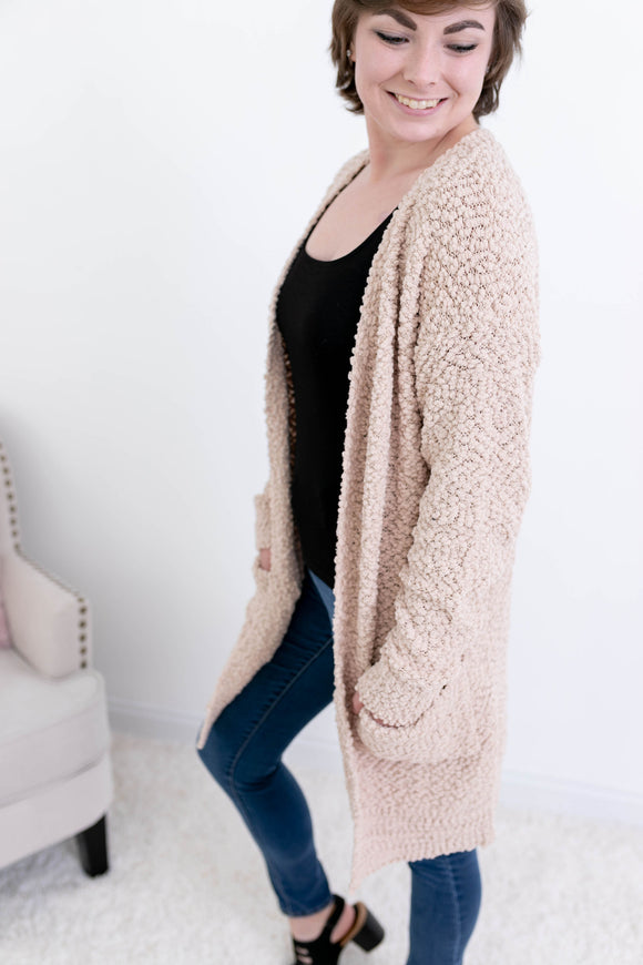 So Soft Taupe Cardigan