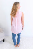 Seaside Sleeveless Button Down Tank