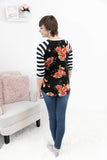 All That Florals 3/4 Sleeve Tee