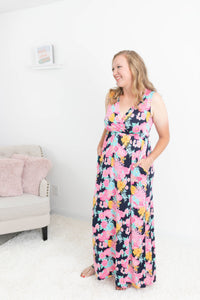 Take Care Floral Maxi Dress
