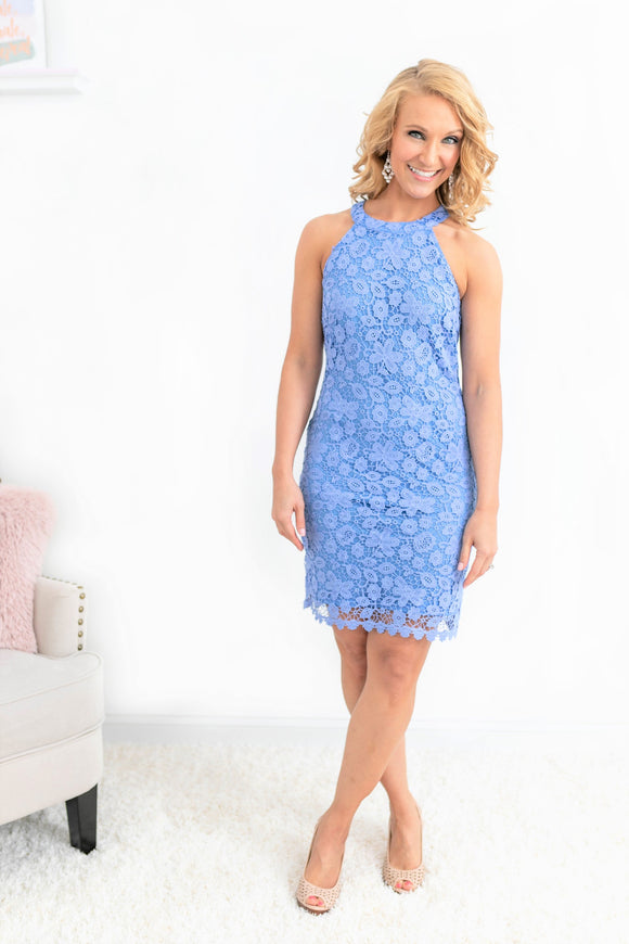 Periwinkle Lace Dress