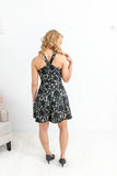 Black Lace Halter Dress