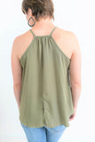 All Seasons Olive Halter Top