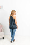 Navy Sleeveless Top