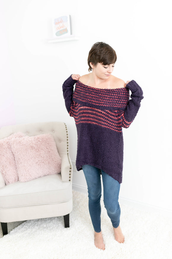 Just The Beginning Off-The-Shoulder Sweater