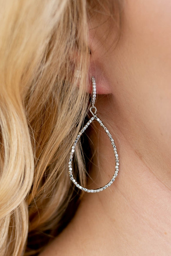 Aria Drop Hoop Earring