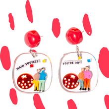 Load image into Gallery viewer, YOU ARE MY MAIN SQUEEZE - Funky Fun You-Handmade Statement Earrings