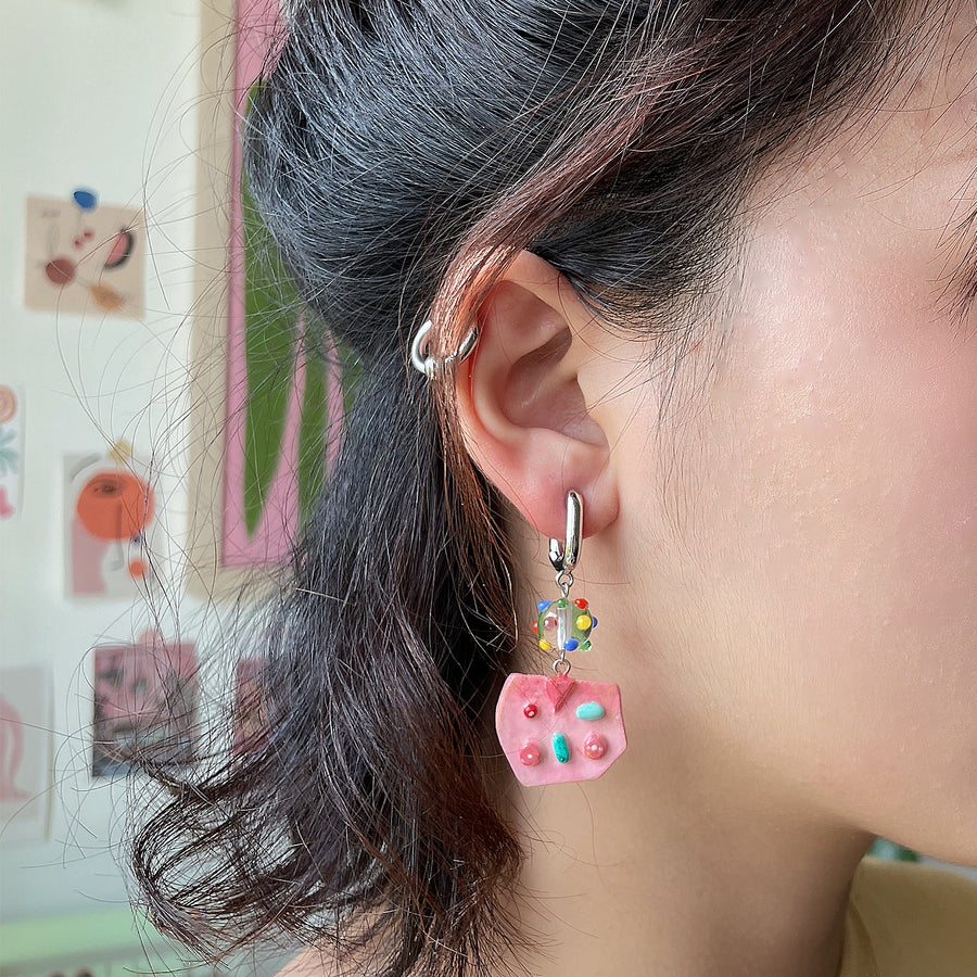 FLORAL DROPS - Handmade Statement Earrings - Funky Fun You