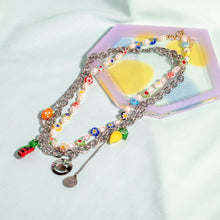 Load image into Gallery viewer, FRUITY BEADED NECKLACE (2 CHAINS)