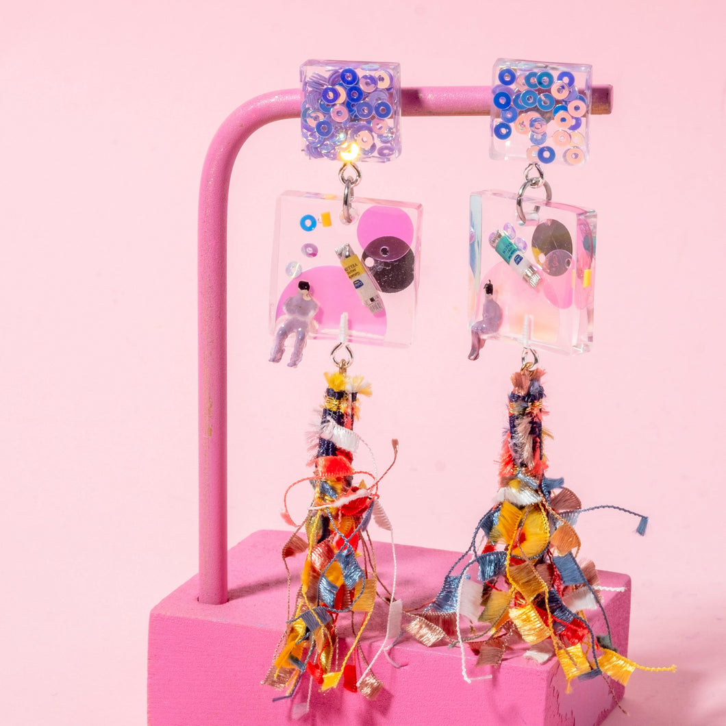 PAINTER - Funky Fun You-Handmade Statement Earrings