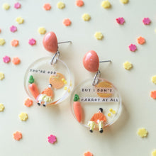 Load image into Gallery viewer, You're odd but I don't carrot at all - Funky Fun You-Handmade Statement Earrings