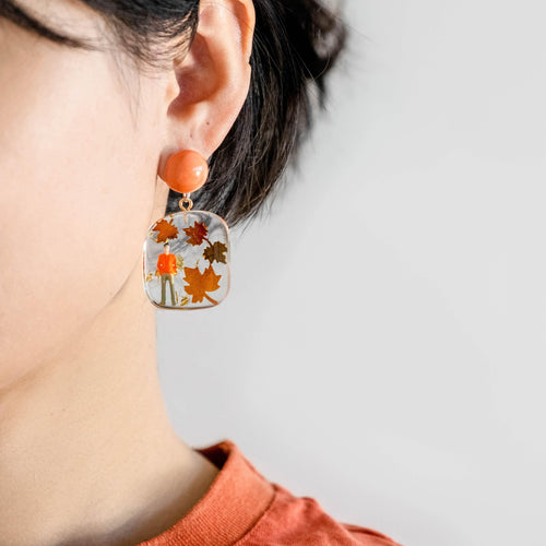 AUTUMN LOVE - Funky Fun You-Handmade Statement Earrings