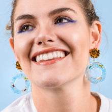 Load image into Gallery viewer, SWIMMERS - Funky Fun You-Handmade Statement Earrings