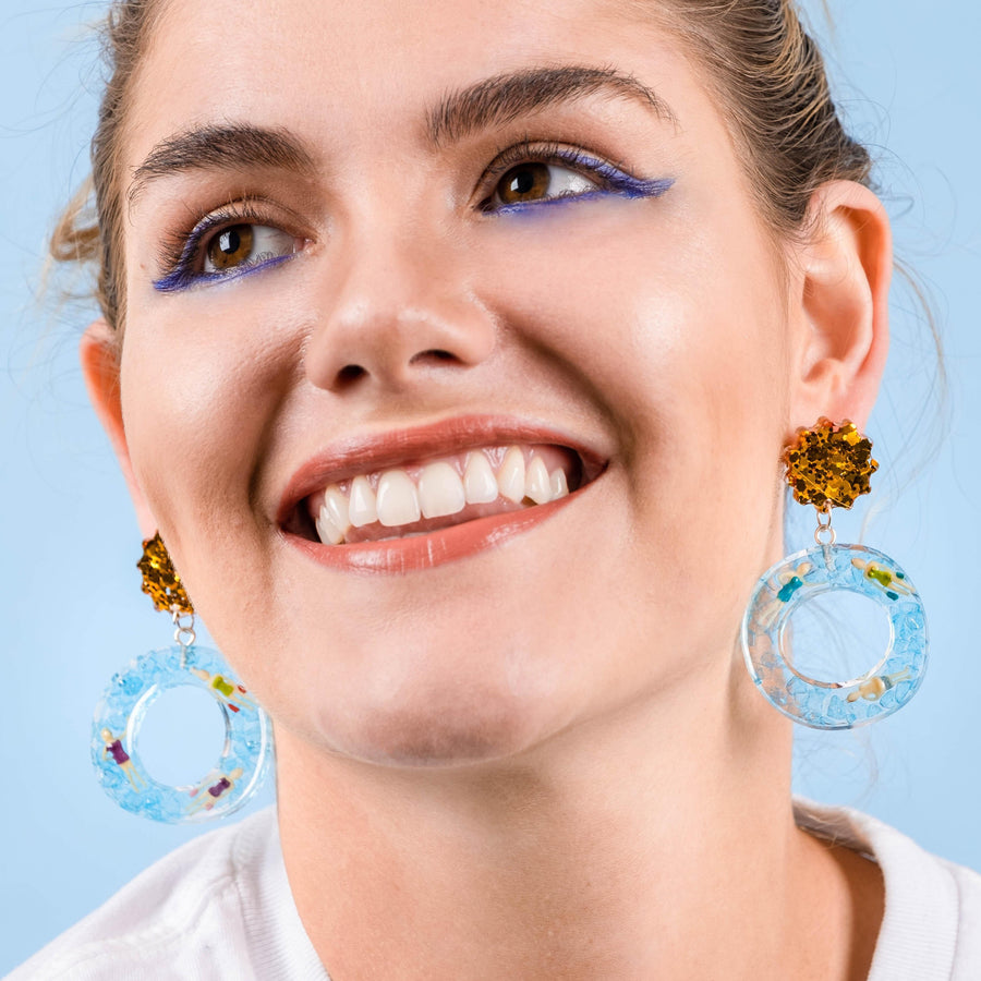 SWIMMERS-Handmade-Statement-Earrings-Accessories-Funky Fun You