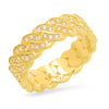 8MM Diamond Cuban Link Ring (one row)