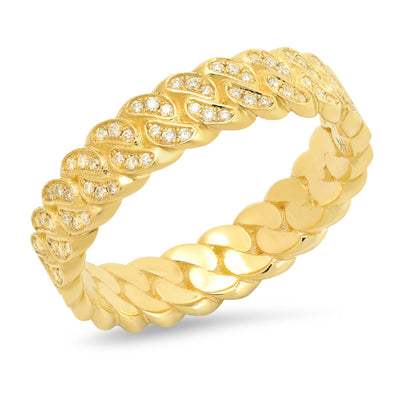 6MM Diamond Cuban Link Ring