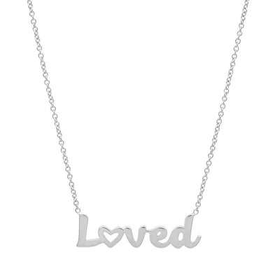 Loved heart necklace