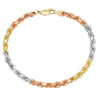 6MM TRI COLOR Rope Bracelet (DIAMOND CUT)