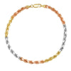 4MM TRI COLOR Rope Bracelet (DIAMOND CUT)